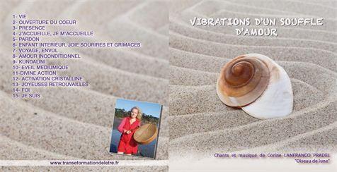 CD Vibrations dun souffle damour pochette - CD Oiseau de Lune